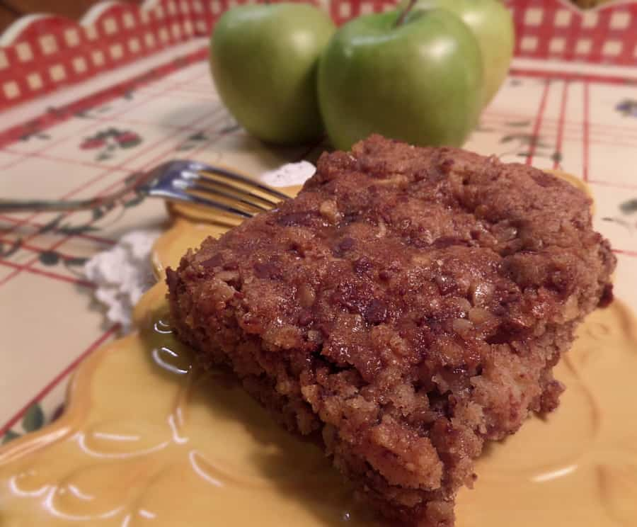 Apple Heath Toffee Coffee Cake