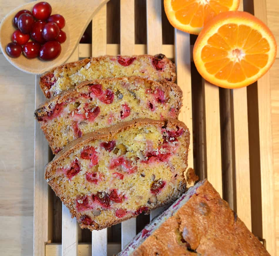 Cranberry Orange Nut Bread - craftycookingmama.com
