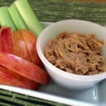Creamy PB Peanut Butter Apple Dippable Dip - craftycookingmama.com