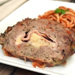Stuffed Meatloaf - Stuffed Italian Meat Roll - Ham & Mozzarella Cheese Stuffed Italian Meatloaf - craftycookingmama.com