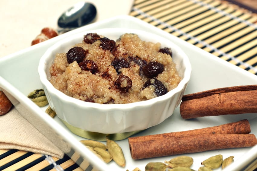 Vegan Creamy Coconut Milk Couscous Pudding - Lazy Day Quick Copycat Rice Pudding - Warm Creamy Vegan Couscous Coconut Raisin Cinnamon Pudding - craftycookingmama.com