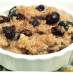 Creamy Coconut Milk Vegan Couscous Pudding - Lazy Day Rice Pudding - Warm Creamy Vegan Couscous Coconut Raisin Cinnamon Pudding - craftycookingmama.com