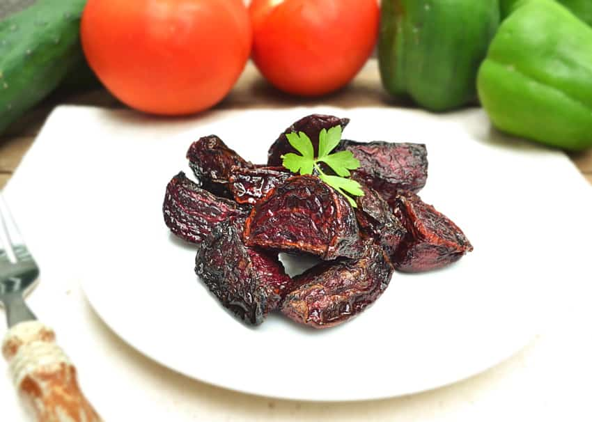 Made With Just Salt & Olive Oil | Simple & Delicious Roasted Fresh Red Beets | craftycookingmama.com