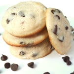 Super Soft Cream Cheese Chocolate Chip Cookies | www.craftycookingmama.com