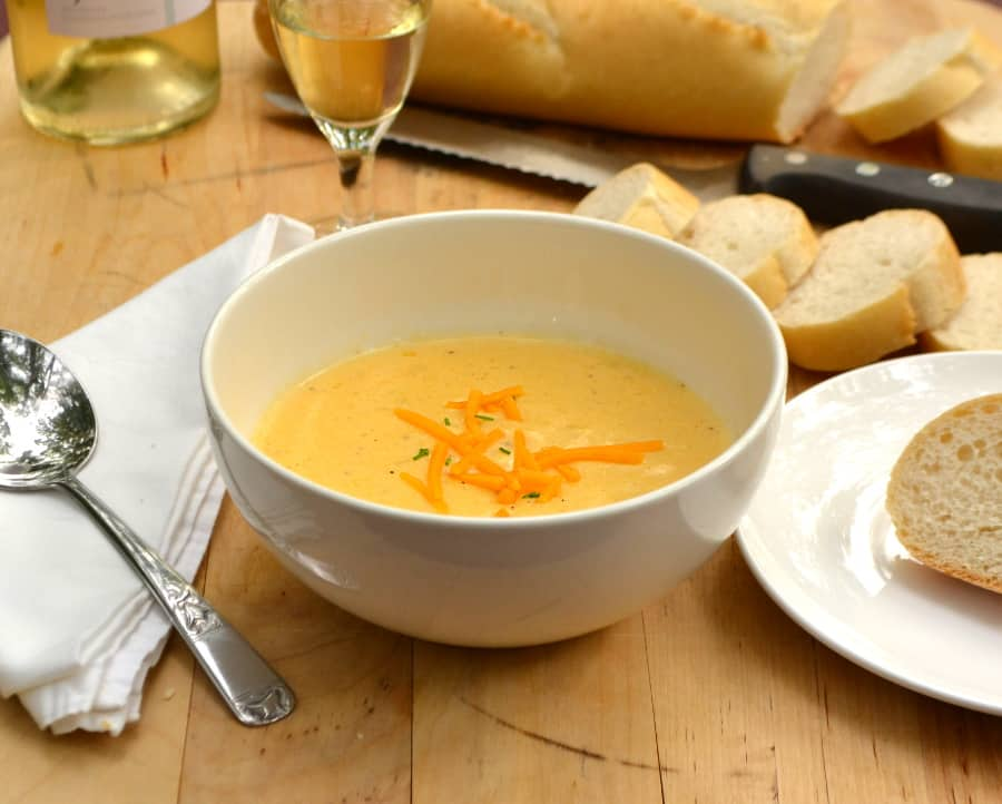 Cheese & Wine Soup | Rich, Creamy, Delicious, Brilliant | Made with Sharp Cheddar & White Wine | craftycookingmama.com