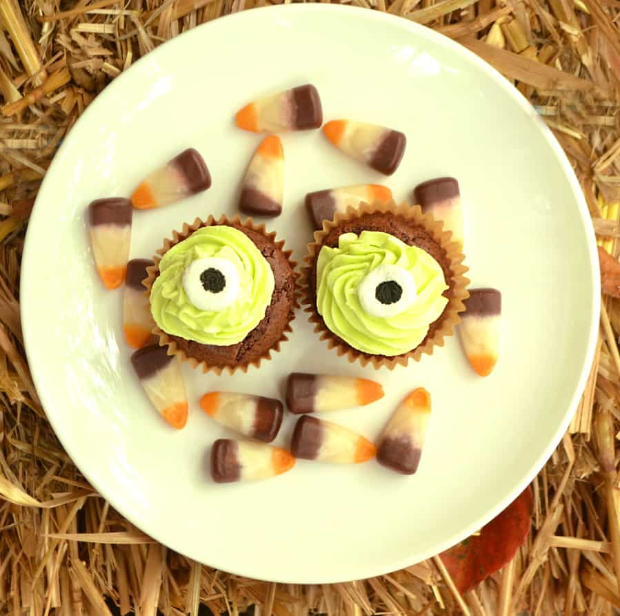Monster Lizard Snake Eyes Candy Decorations for Halloween or any other creepy occasion | Fun on cupcakes & cookies | DIY How to make candy eyes - cheap | craftycookingmama.com