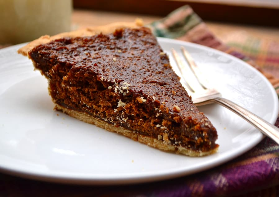 Molasses Pie - a simple PA Dutch Amish pie | Similar to a shoofly pie | Chewy, sweet, unique - delicious | www.craftycookingmama.com