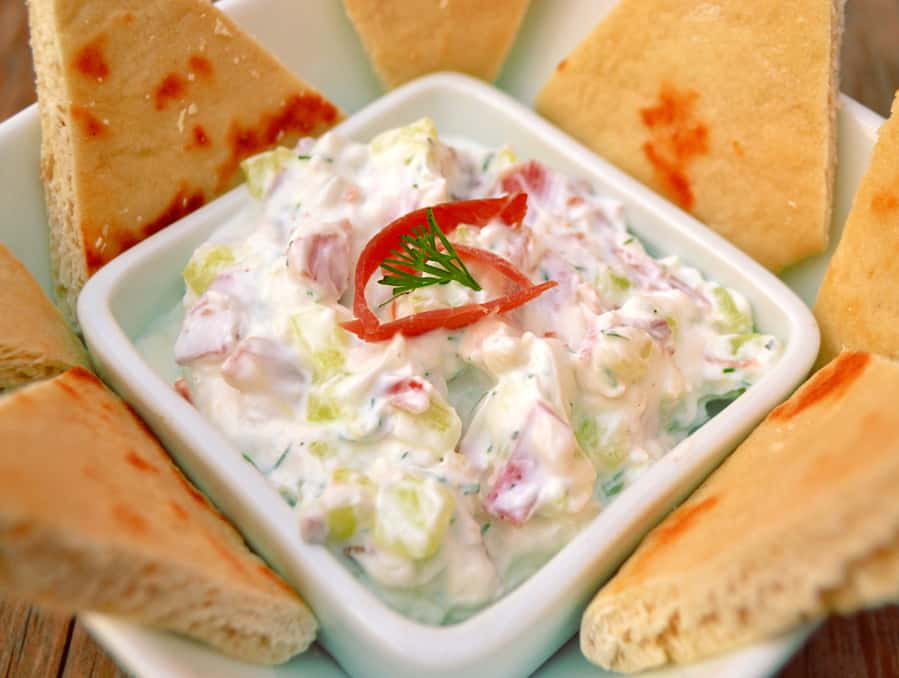 Greek Gyro Dip | Use Knauss Dried Beef Instead of Shaved Lamb | Who doesn't love a gyro drenched in tzhaki sauce? A simple & authentic tasting recipe | www.craftycookingmama.com