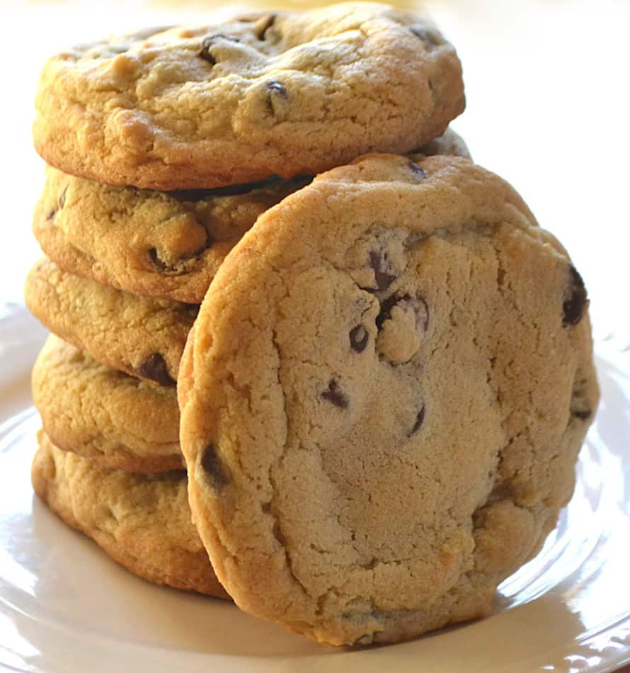 BIG & Thick Chewy Chocolate Chip Cookies