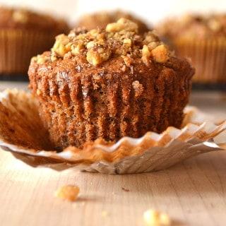 Banana Nut (Walnut) Muffins | Quick, Easy, Moist & Delicious | www.craftycookingmama.com