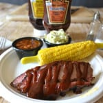 Smoked BBQ Beef Brisket with Heinz Kansas City BBQ Sauce | www.craftycookingmama.com