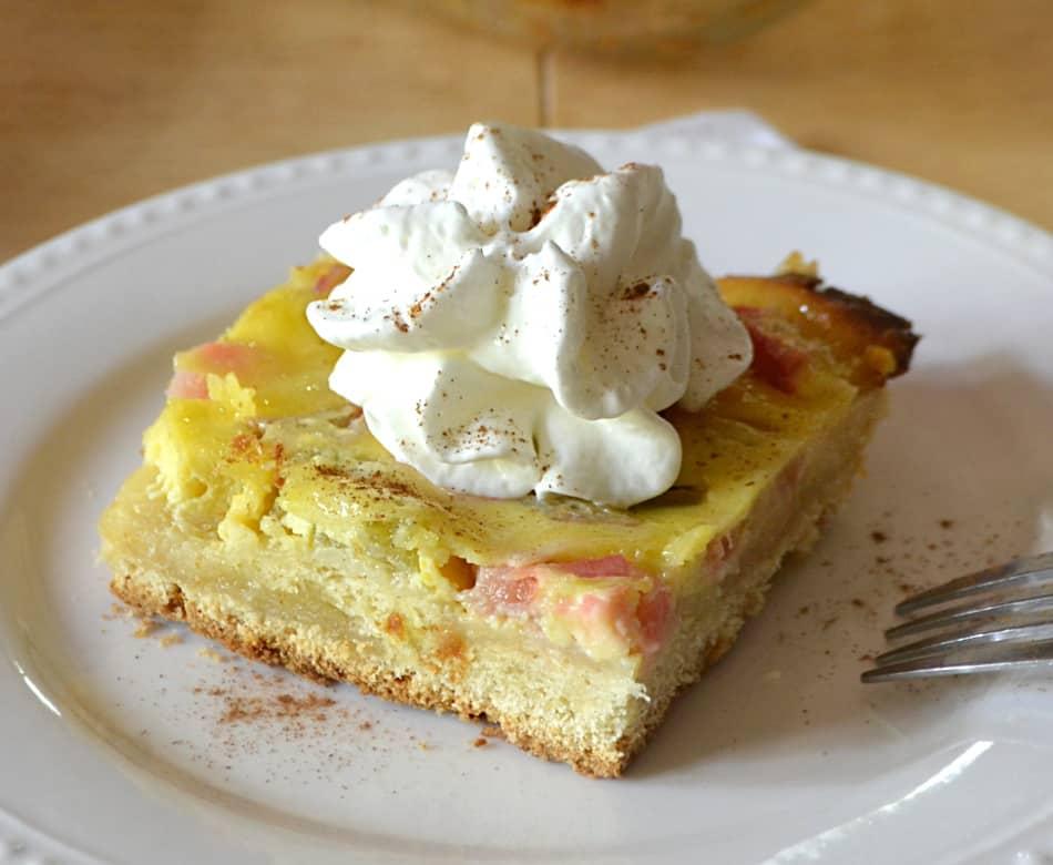 Rhubarb Kuchen | A German Rhubarb & Custard Cake | {Küchenmöbel made in germany 80}