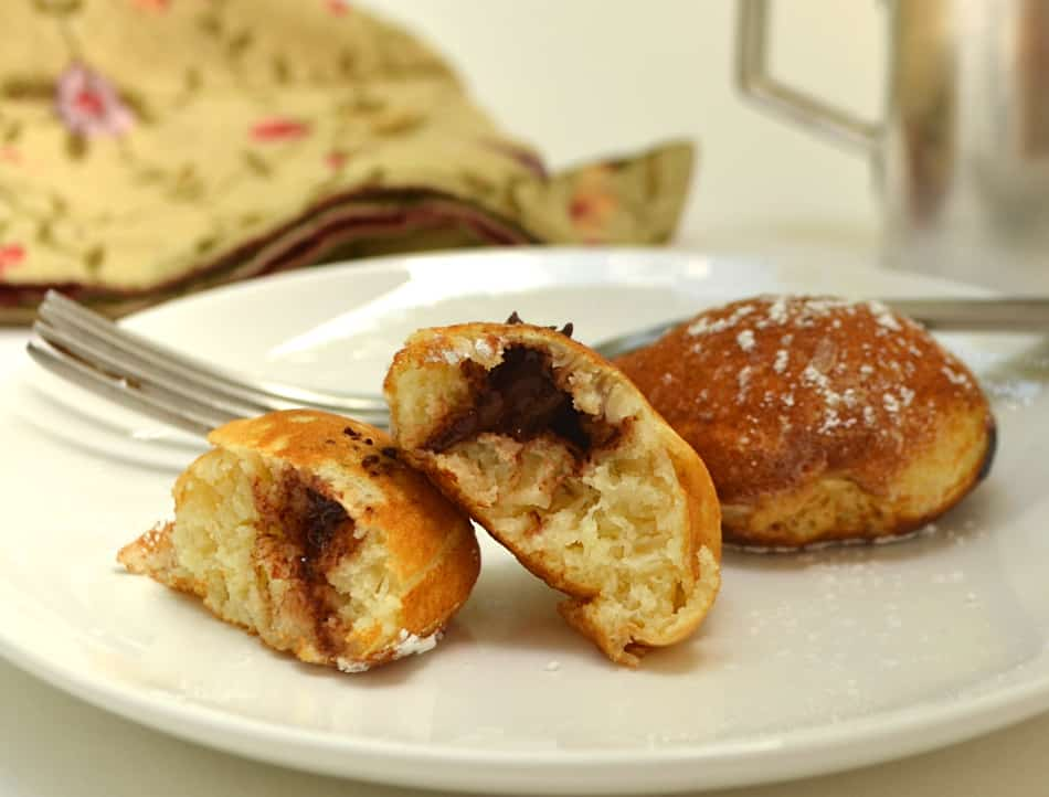 Ebelskivers - Danish Pancake Bites - Filled with jams & chocolate chips