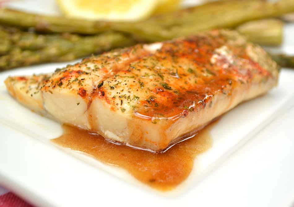 Baked fish with brown butter for Grilled white fish recipes