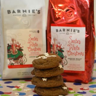Santa's White Christmas® from Barnie's Coffee & Chocolate Chip Mint Cookies | www.craftycookingmama.com