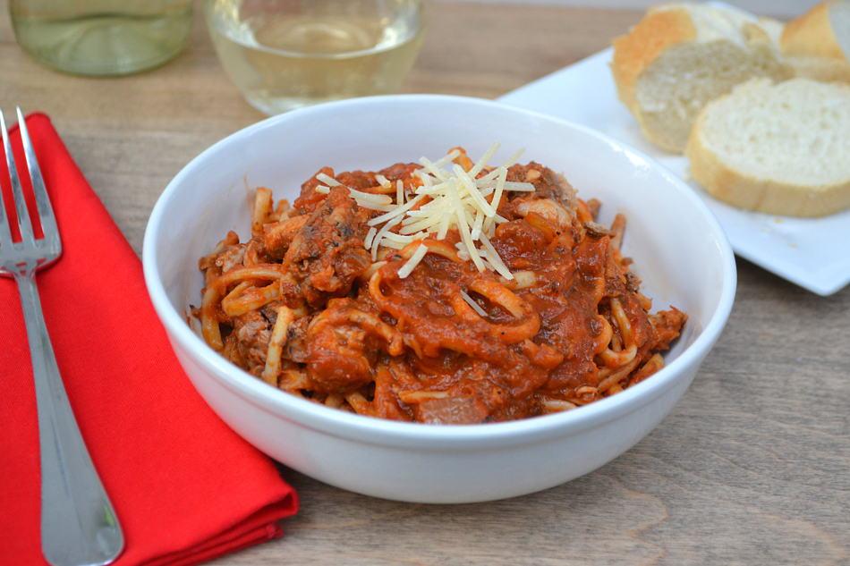 Sardine Fra Diavolo | A Spicy Flavorful Tomato Sauce | www.craftycookingmama.com