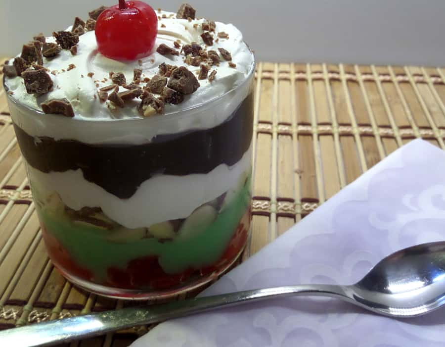 Italian Layered Spumoni Pudding