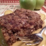 Gooey Apple Coffee Cake -Apple Toffee Coffee Cake Made With Heath Bar Bits - craftycookingmama.com