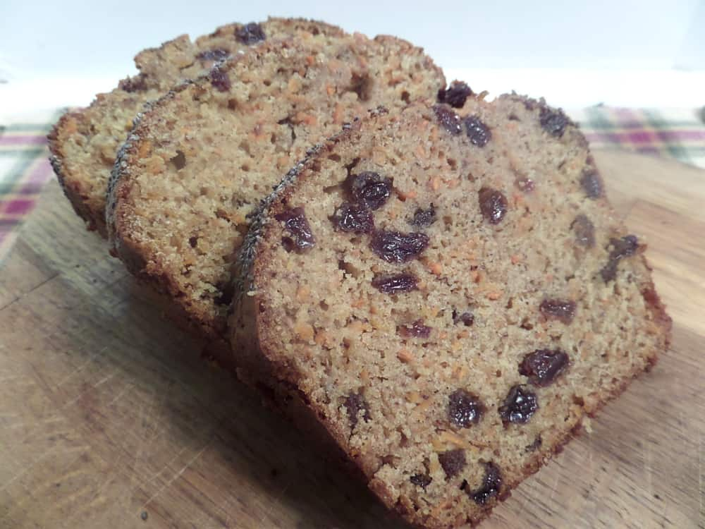 Carrot Applesauce Bread with Chia Seeds - Carrot Raisin Bread with Chia Seeds - craftycookingmama.com