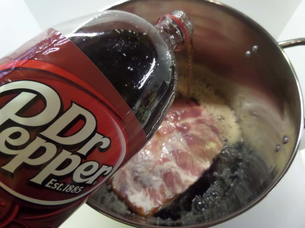 Dr. Pepper Cola Soda Pork Spare Ribs
