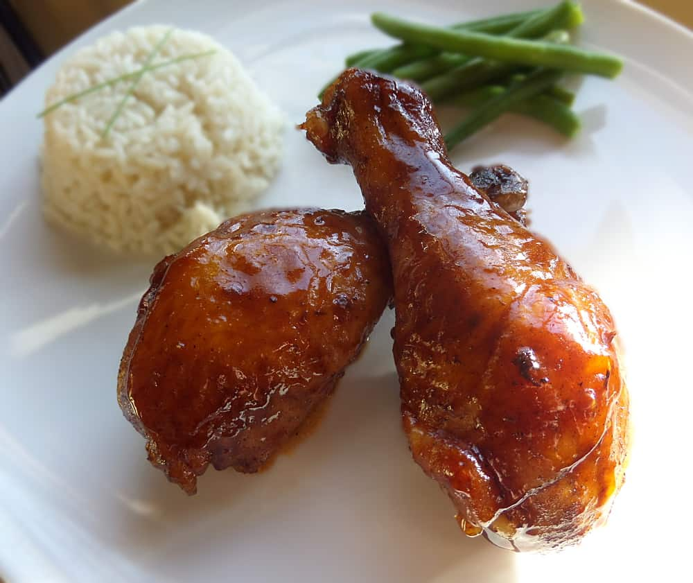Oven Baked Chinese BBQ Barbecue Chicken Drumsticks