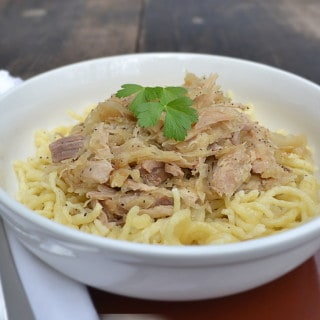 Pork and Sauerkraut with Spaetzle - craftycookingmama.com
