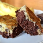 Moist Layered Chocolate Chip Banana Bars - craftycookingmama.com