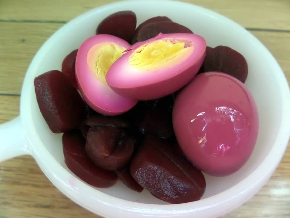 Red Beet Pickled Amish Hard Boiled Eggs