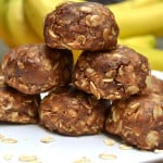 Chewy Peanut Butter Chocolate Cinnamon Oatmeal Cookie Bites - No Bake - Healthy Sweets | craftycookingmama.com