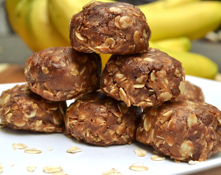 159fedb497fc14 Chewy Peanut Butter Chocolate Cinnamon Oatmeal Cookie Bites - No Bake -  Healthy Sweets