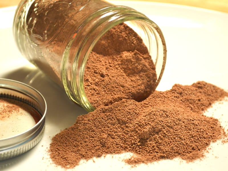 Copycat Nesquick - DIY Powdered Chocolate Milk Mix - Just Cocoa Powder, Sugar and Salt - Cheap and Takes a Minute to Make | craftycookingmama.com