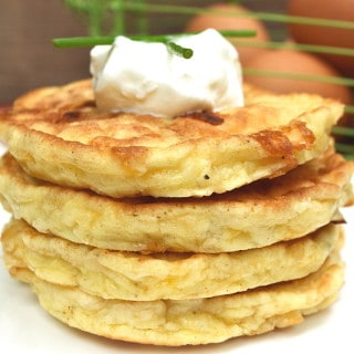 Perfectly Simple & Delicious Egg and Cheese Pancakes | Savory Pancakes | Quick, Easy, Different Egg Breakfast | craftycookingmama.com