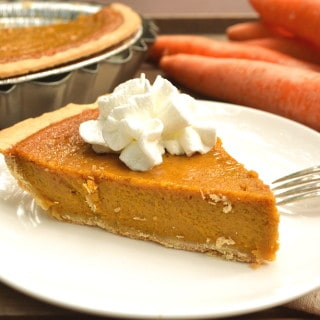 Delicious Creamy Carrot Pie - Tastes Just Like Pumpkin Pie...Maybe Better | Perfectly Spiced & Easier to Make | Perfect Fall & Holiday Pie | craftycookingmama.com