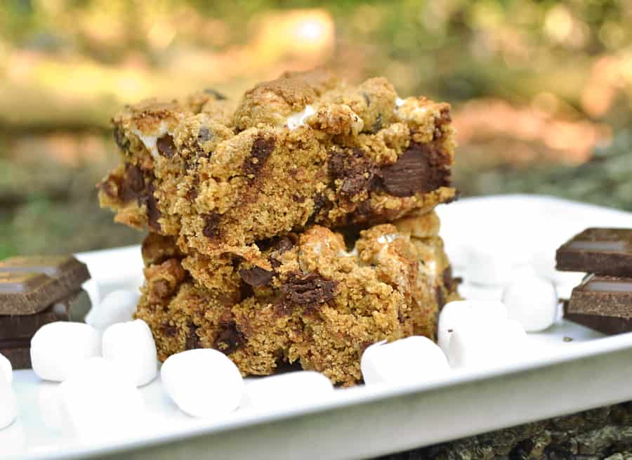 S'mores Cookie Bars | Indoor S'mores | Quick, Easy, Ooey, Gooey, Chewy, Crumbly and Delicious | Ready in 30 Minutes | craftycookingmama.com