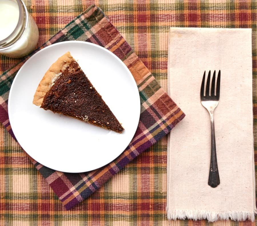 Molasses Pie - a simple PA Dutch pie | Similar to a shoofly pie | Chewy, sweet, unique - delicious | www.craftycookingmama.com
