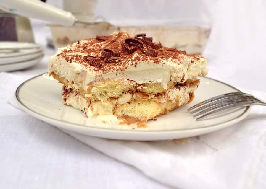 Easy Tiramisu | Made with International Delight Iced Coffee, Kahula, Whipped Cream, Mascarpone, Lady Fingers or Angel Food Cake | www.craftycookingmama.com | #FoundMyDelight