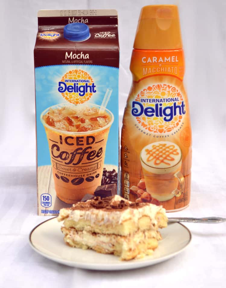 Easy Tiramisu | Made with International Delight Iced Coffee, Kahula, Whipped Cream & Mascarpone | www.craftycookingmama.com | #FoundMyDelight