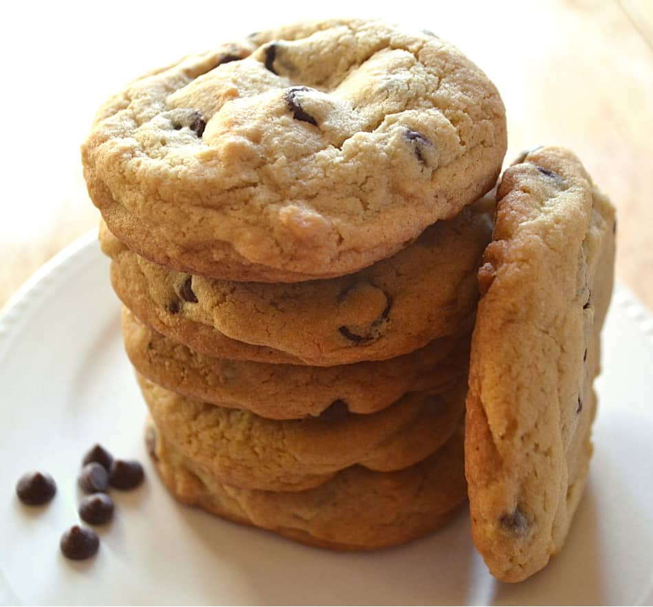 BIG, Thick, Jumbo Chewy Chocolate Chip Cookies | www.craftycookingmama.com