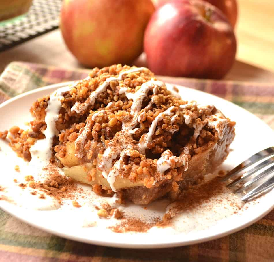 Apple Crisp Made with Graham Cracker Crumbs | Apple Crumble | Brown Betty | www.craftycookingmama.com