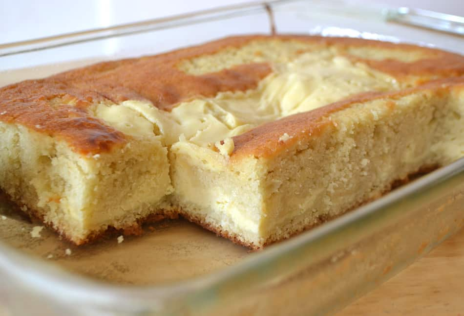 Ricotta Layer Cake | Easy Yellow Ricotta Cake baked in a 13x9 dish | www.craftycookingmama.com