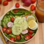 Honey Vinaigrette Salad Dressing made with raw honey & apple cider vinegar | www.craftycookingmama.com