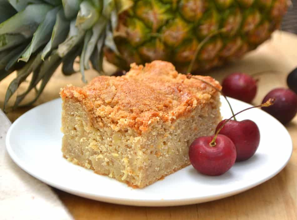 A simple, delicious & moist Pineapple Crumb Coffee Cake. Easy, everyday baking. Almost a lazy pineapple upside down cake | www.craftycookingmama.com