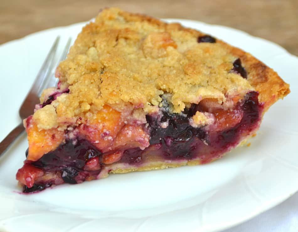 Peach Blueberry Pie Crafty Cooking Mama