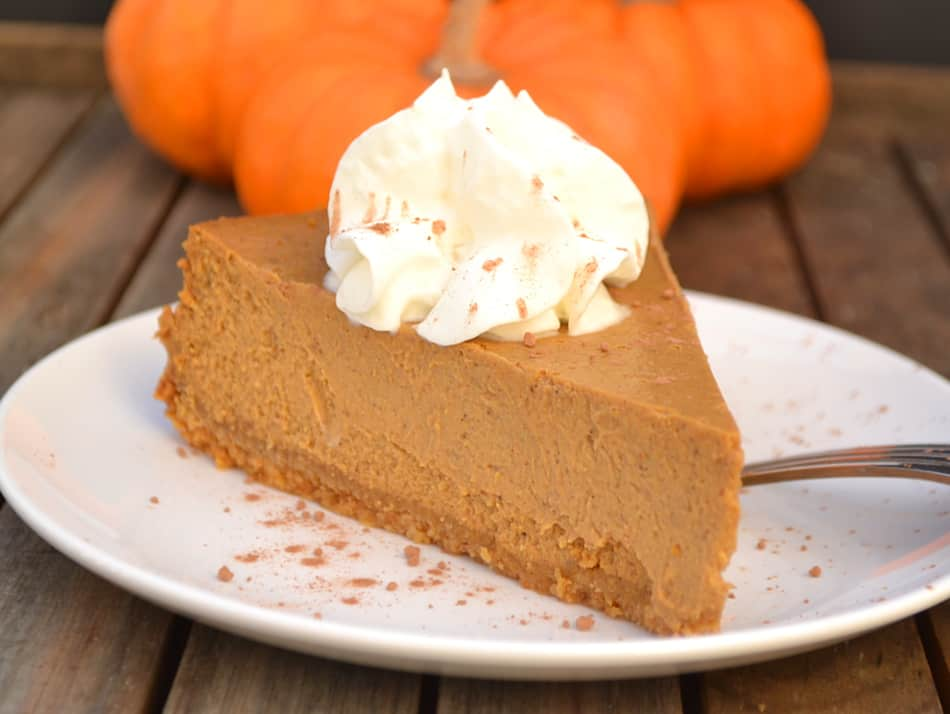 Molasses Pumpkin Cheesecake (Healthier) - Crafty Cooking Mama