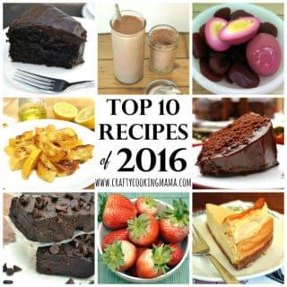 2016 Top 10 Recipes   www.craftycookingmama.com