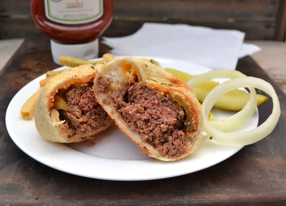 Pizza Burgers AKA Mini Cheeseburger Stromboli | Fun, easy & delicious | www.craftycookingmama.com