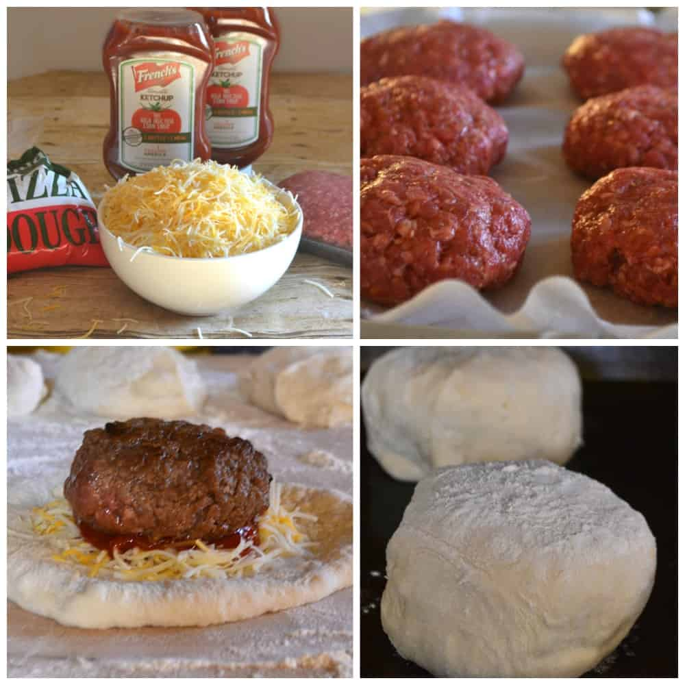 Pizza Burgers AKA Mini Cheeseburger Stromboli | Fun, easy & delicious | www.craftycookingmama.com