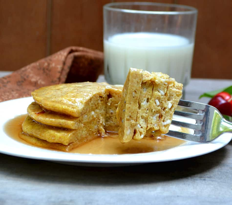 Healthy Whole Wheat Cottage Cheese Pancakes - Sugar Free & No All-Purpose Flour | www.craftycookingmama.com