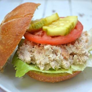 Chunky Cheesy Tuna Salad   Makes a great sandwich or dip   www.craftycookingmama.com