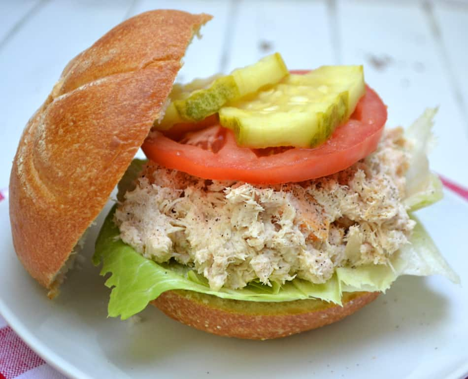 Chunky Cheesy Tuna Salad | Makes a great sandwich or dip | www.craftycookingmama.com